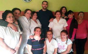 Curso de movilización a pacientes en la residencia del Pilar en Collado