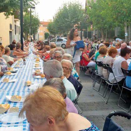 Cena con pensionistas de Collado Mediano