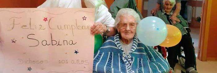 Sabina, nuestra residente más longeva, cumple 101 años.